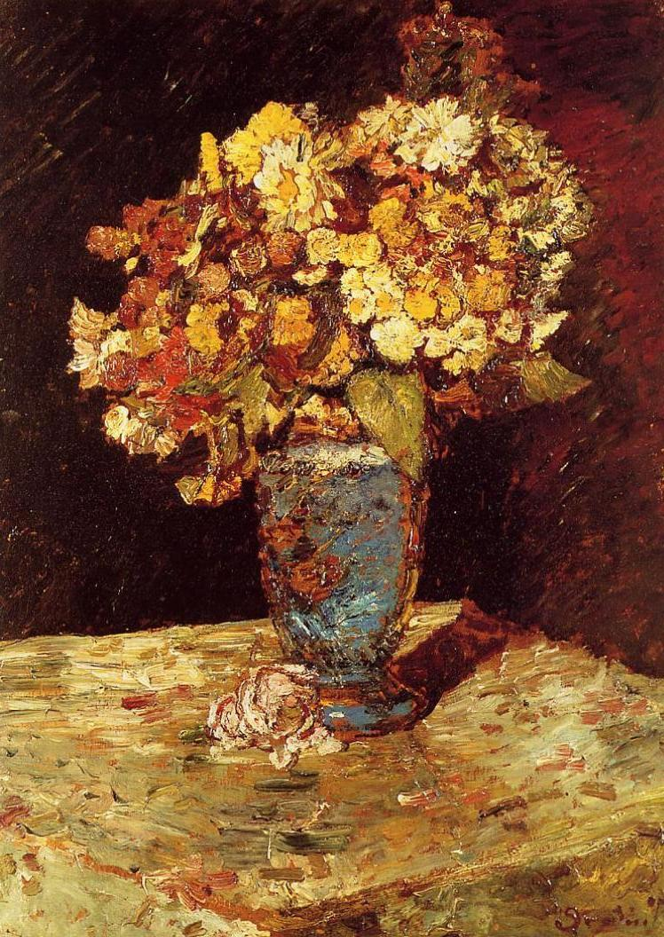 Still Life with Wild and Garden Flowers 1875-1880