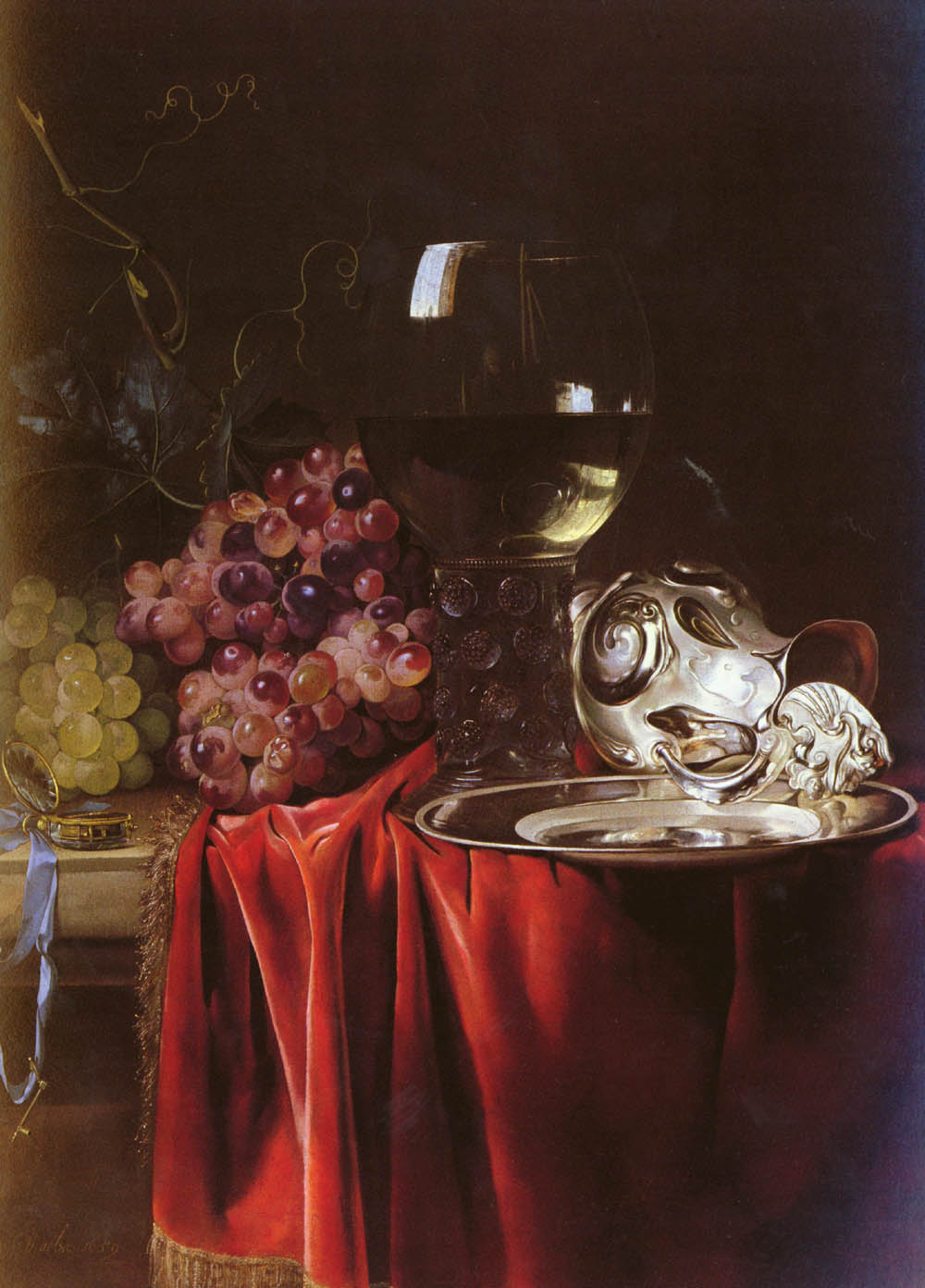 A Still Life Of Grapes A Roemer A Silver