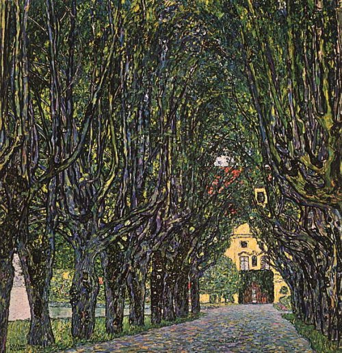 Avenue in Schloss Kammer Park 1912