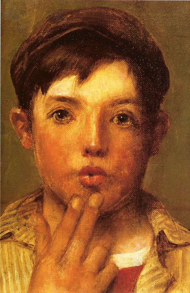 Urchin Head of Boy | John George Brown | Oil Painting