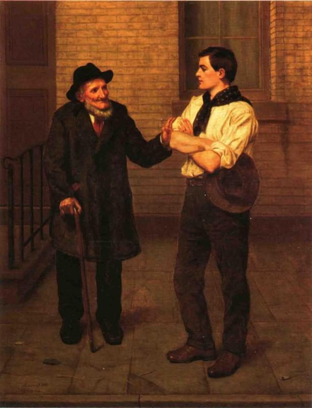 When I Was Young 1910 | John George Brown | Oil Painting