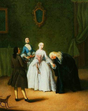 A Nobleman Kissing A Lady's Hand 1746 | Pietro Longhi | Oil Painting