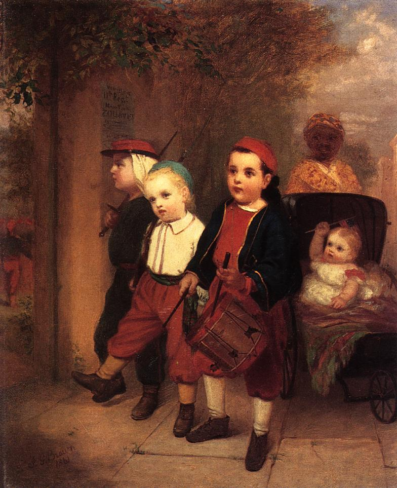 Young Recruits 1861 | John George Brown | Oil Painting