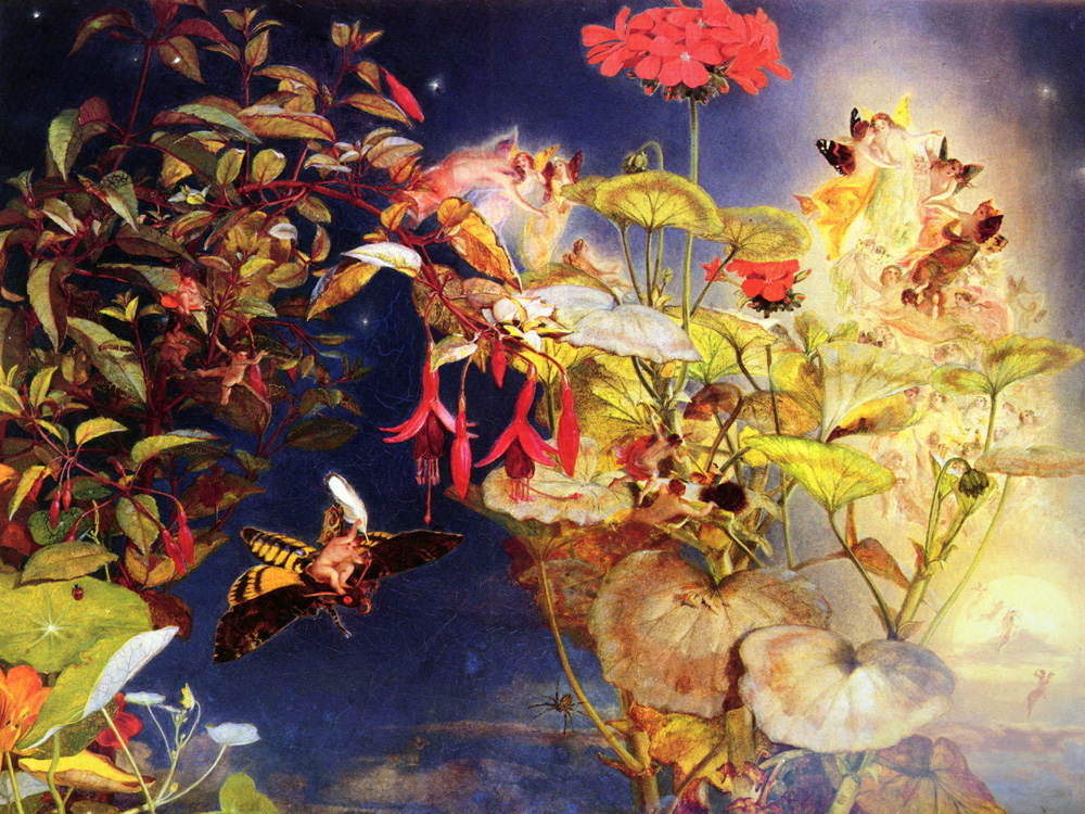 The Midsummer Fairies | John George Naish | Oil Painting