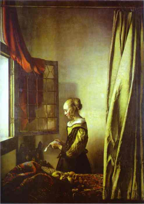 Girl Reading A Letter At An Open Window 1657 | Jan Vermeer | Oil Painting