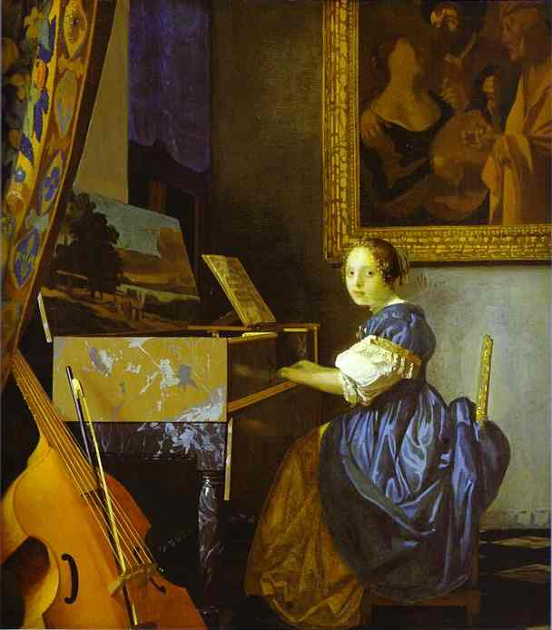 Lady Seated At A Virginal 1673-1675 | Jan Vermeer | Oil Painting