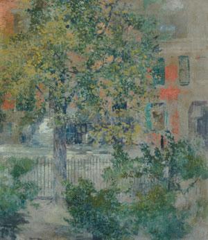 View from the Artist's Window Grove Street ca 1900 | Robert Blum | Oil Painting