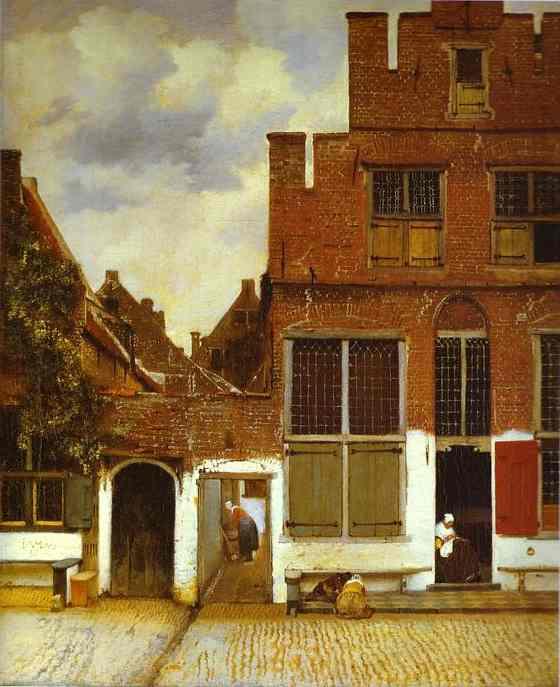 Street In Delfi 1657-1658 | Jan Vermeer | Oil Painting