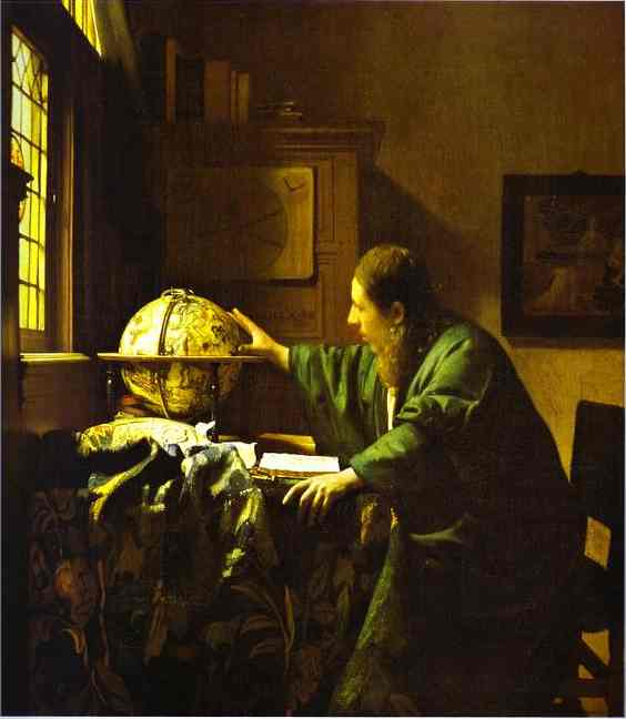 The Astronomer 1668 | Jan Vermeer | Oil Painting
