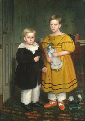 The Raymond Children 1838 | Robert Peckham | Oil Painting
