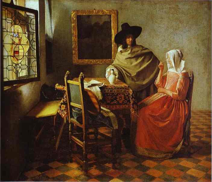 The Glass Of Wine 1658-1660 | Jan Vermeer | Oil Painting