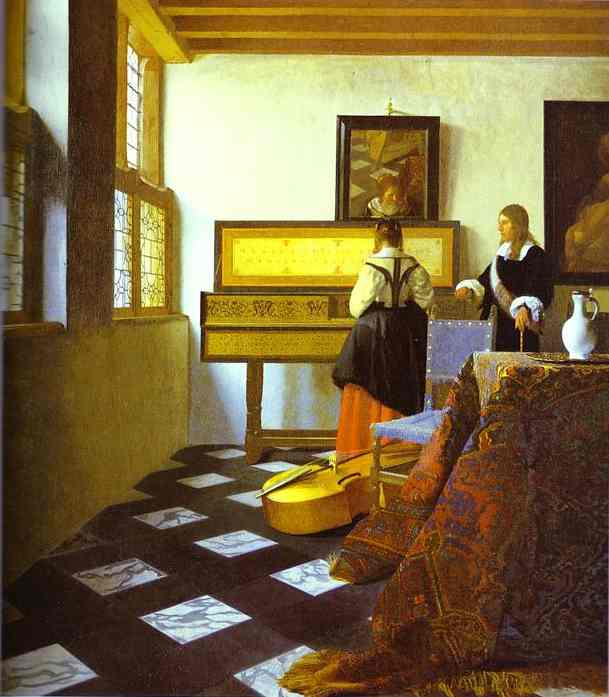 The Music Lesson 1662-1665 | Jan Vermeer | Oil Painting