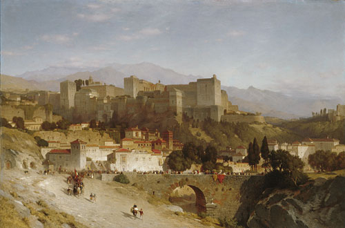 The Hill of the Alhambra Granada 1865 | Samuel Colman | Oil Painting