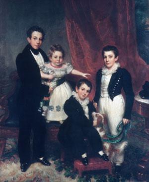 The Knapp Children 1833 | Samuel Lovett Waldo William Jewett | Oil Painting