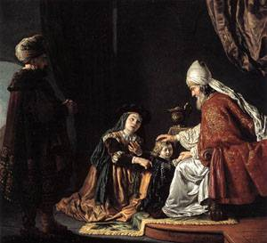 Hannah Giving Her Son Samuel To The Priest 1645 | Jan Victors | Oil Painting