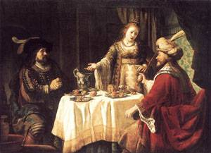 The Banquet Of Esther And Ahasuerus 1640s | Jan Victors | Oil Painting