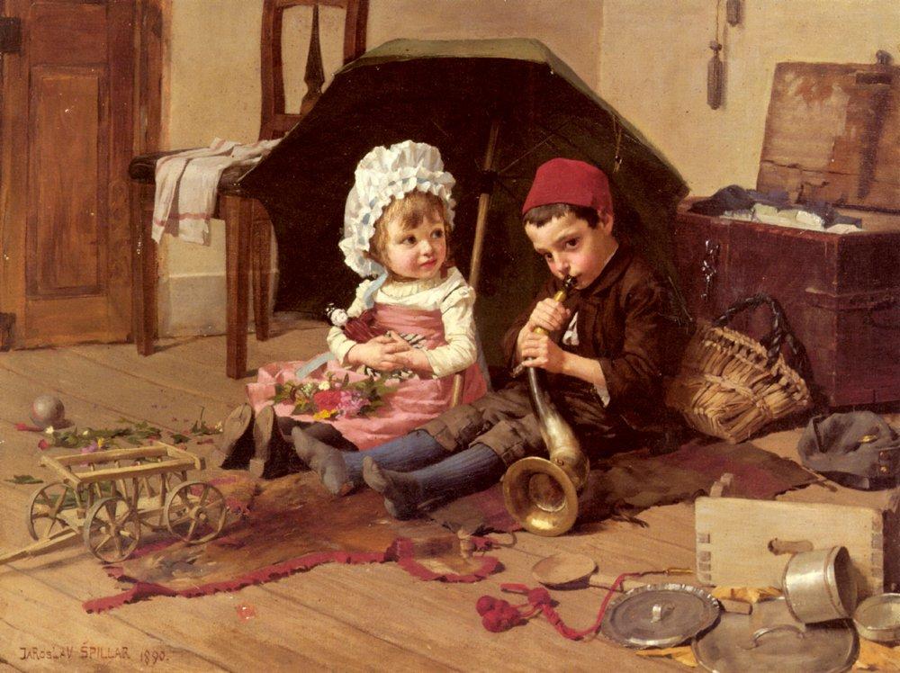 Playtime | Jaroslav Spillar | Oil Painting
