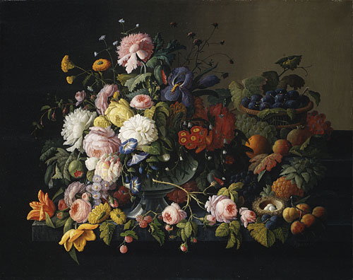 Still Life Flowers and Fruit 1850 | Severin Roesen | Oil Painting