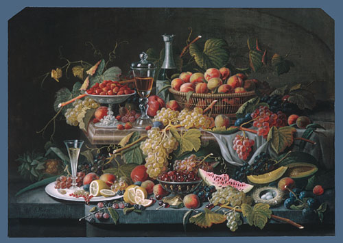 Still Life Fruit 1855 | Severin Roesen | Oil Painting