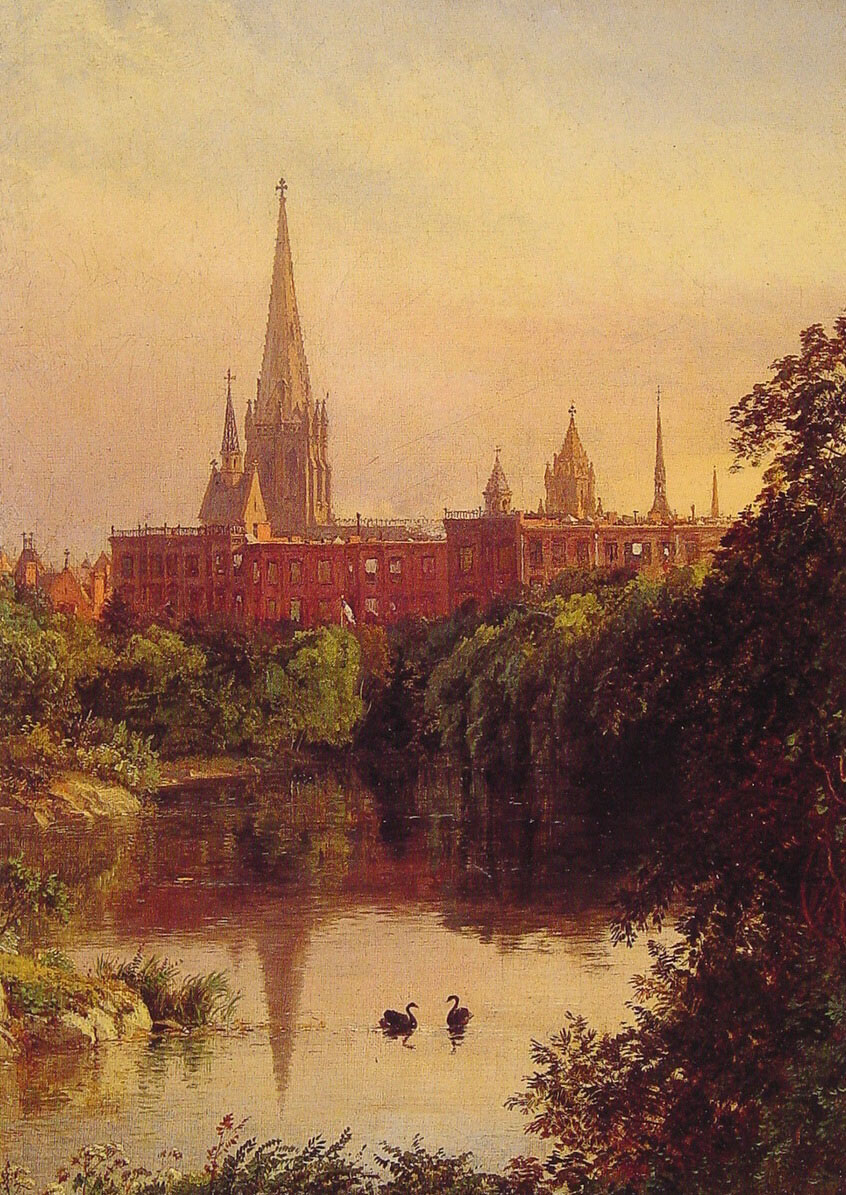 A View in Central Park | Jasper Francis Cropsey | Oil Painting