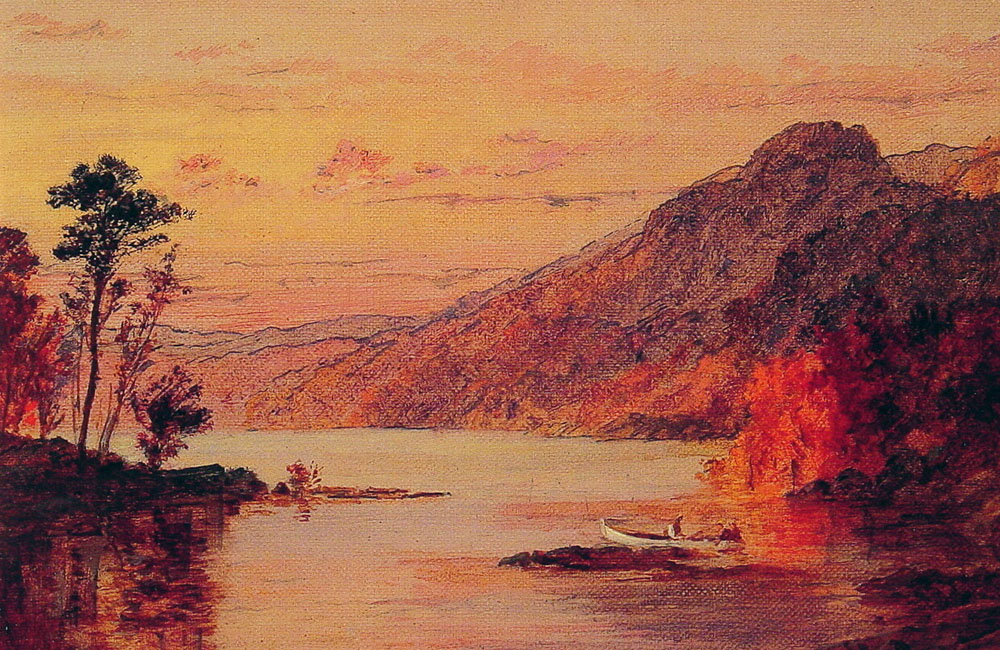 Lake Scene Catskill Mountains | Jasper Francis Cropsey | Oil Painting