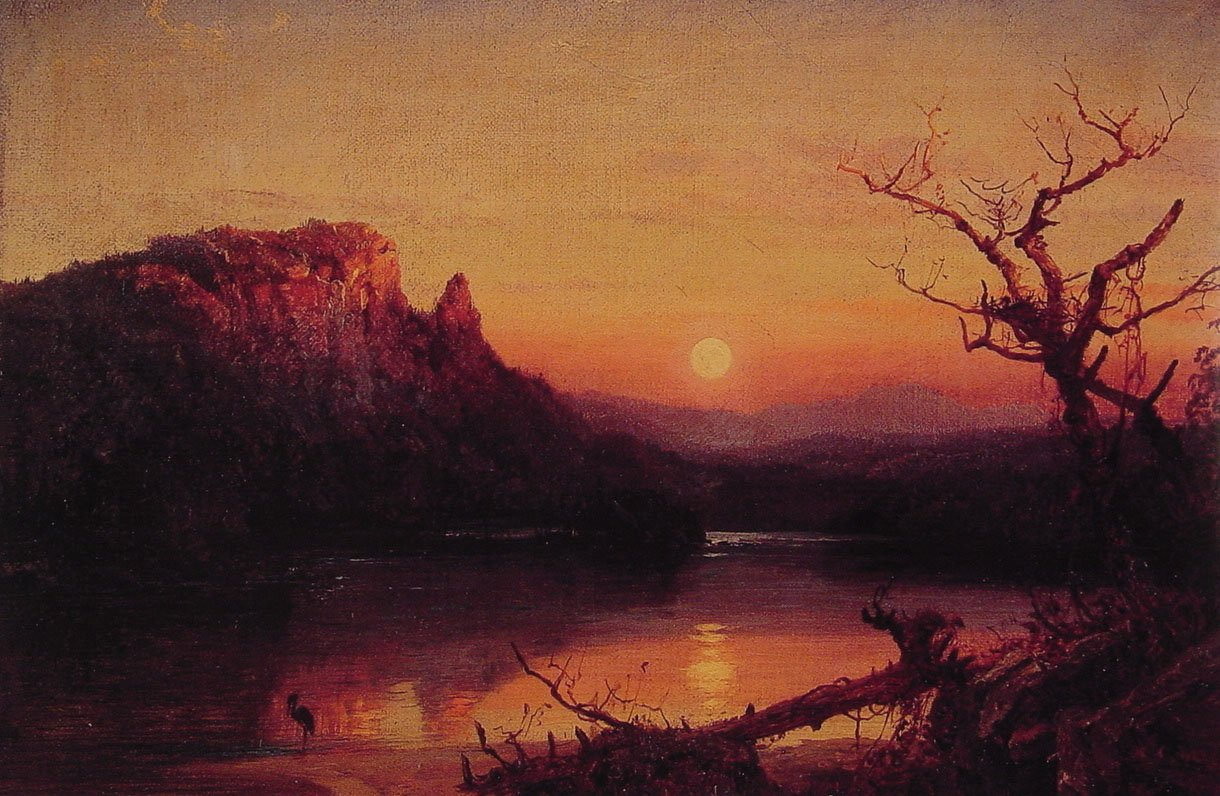 Sunset Eagle Cliff | Jasper Francis Cropsey | Oil Painting