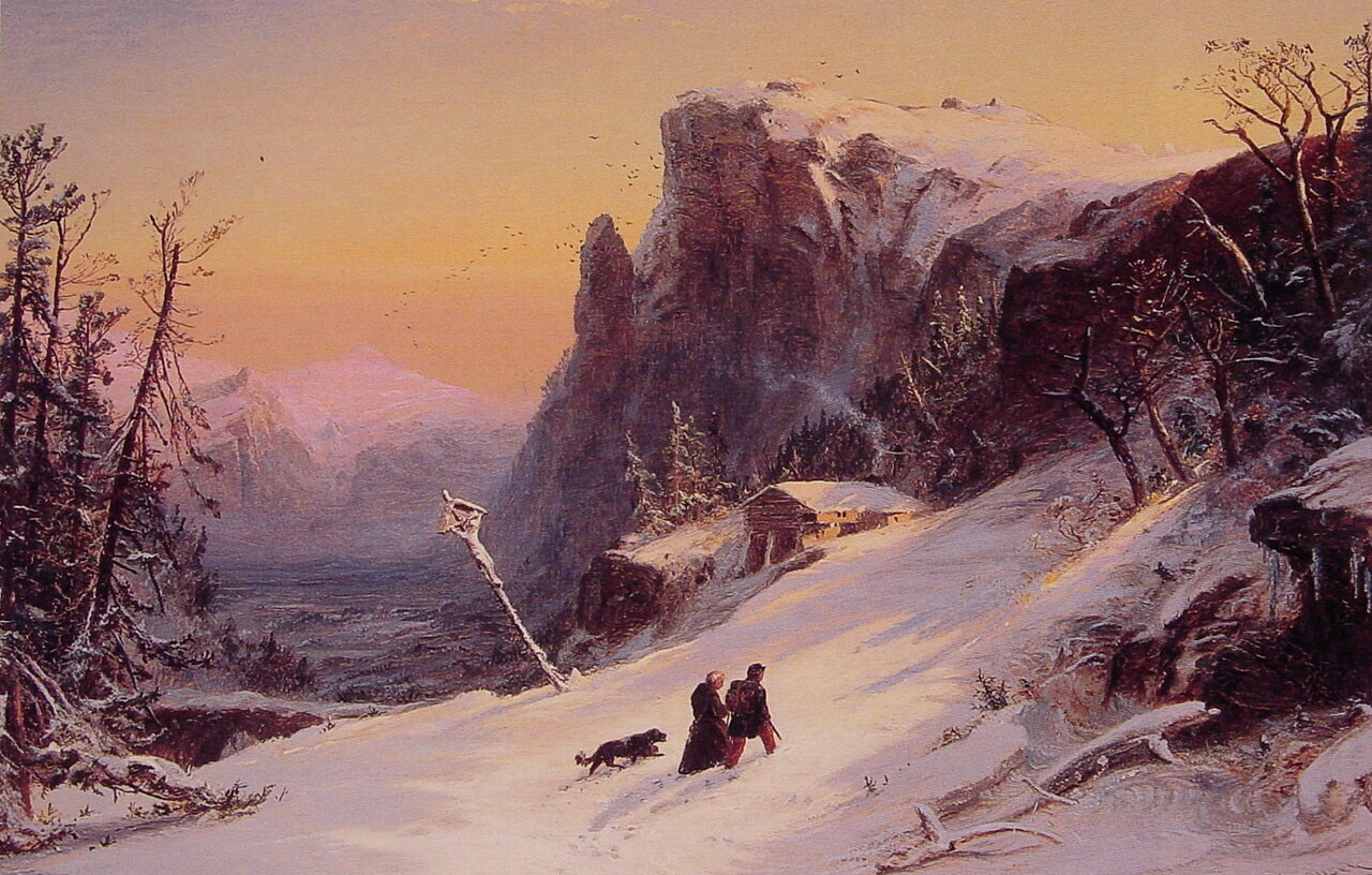 Winter in Switzerland | Jasper Francis Cropsey | Oil Painting