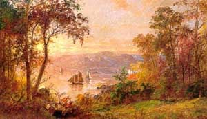 Sailing (The Hudson at Tappan Zee) 1883 | Jasper Francis Cropsey | Oil Painting