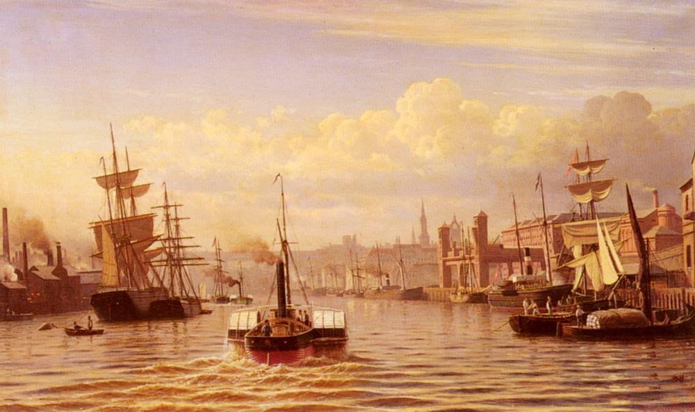 Shipping On The River Tyne Newcastle | Christian Eckardt | Oil Painting