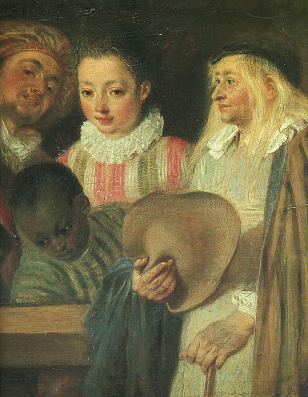 Actors from a French Theatre detail | Jean Antoine Watteau | Oil Painting