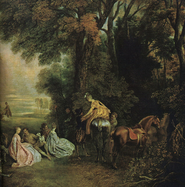 A Halt During the Chase | Jean Antoine Watteau | Oil Painting