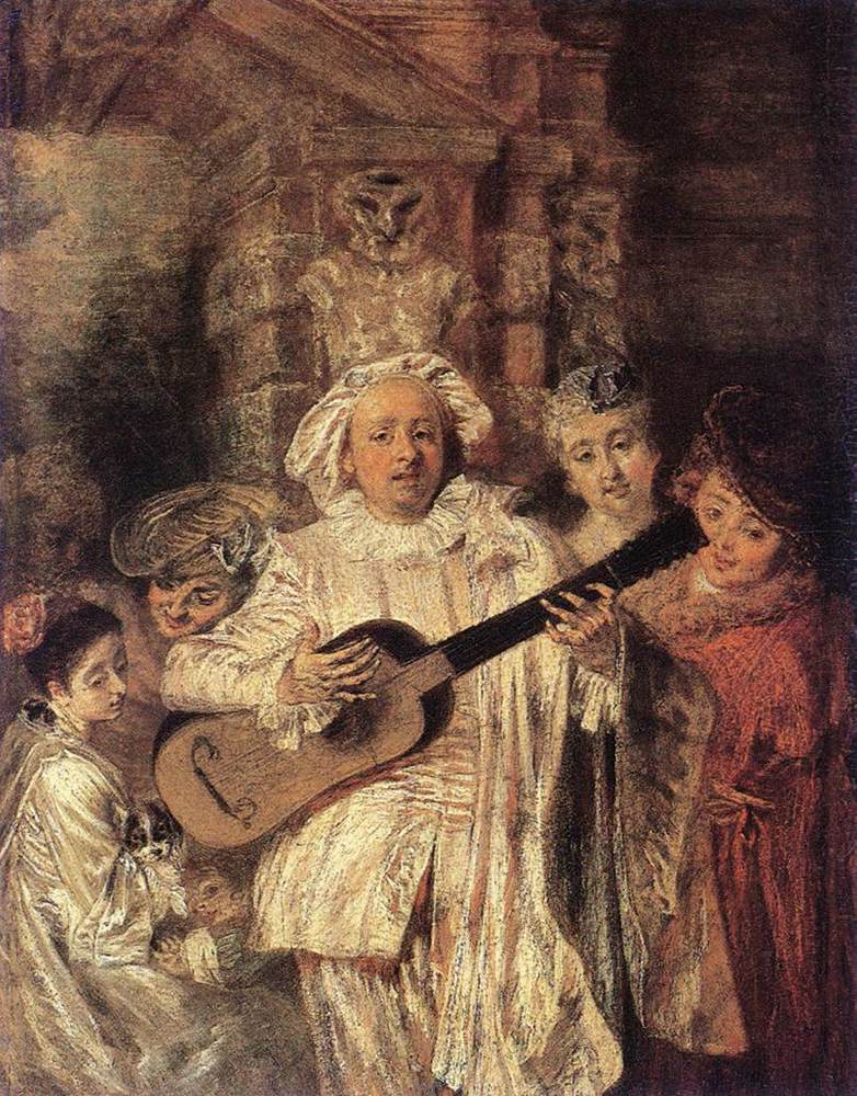 Gilles and his Family | Jean Antoine Watteau | Oil Painting