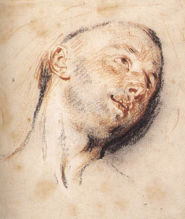 Head of a Man | Jean Antoine Watteau | Oil Painting