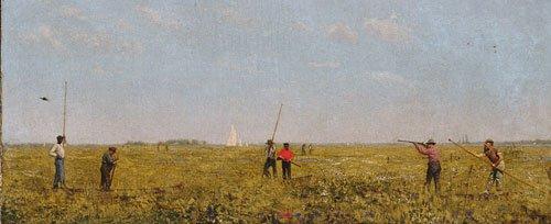 Pushing for Rail 1874 | Thomas Eakins | Oil Painting