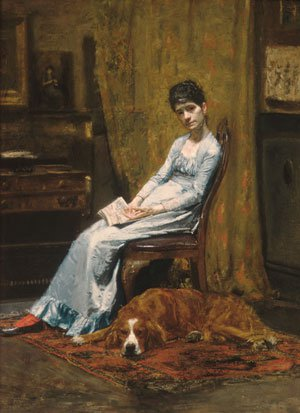 The Artist's Wife and His Setter Dog 1884 | Thomas Eakins | Oil Painting