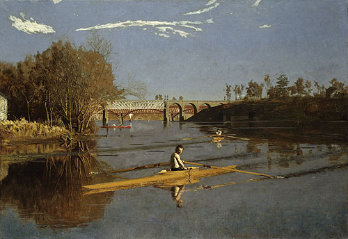 The Champion Single Sculls (Max Schmitt in a Single Scull) 1871 | Thomas Eakins | Oil Painting