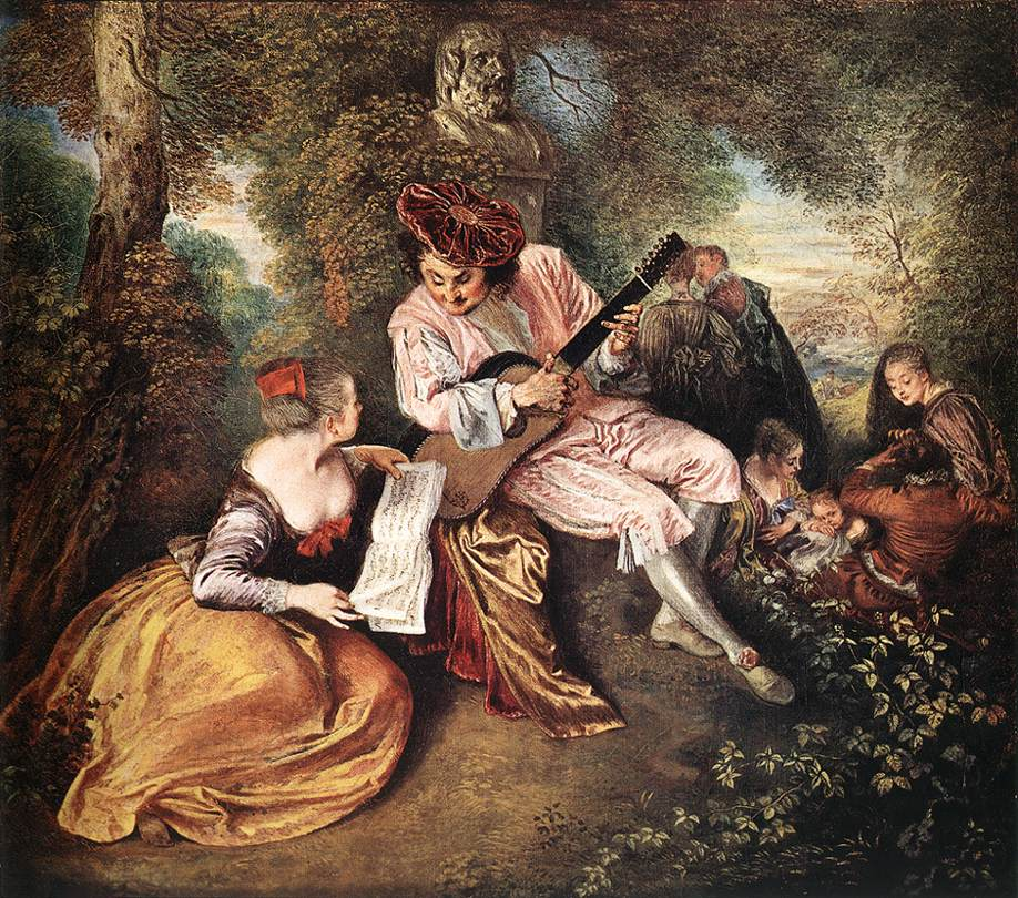 La Gamme dAmour The Love Song | Jean Antoine Watteau | Oil Painting