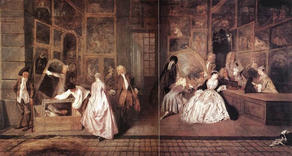LEnseigne de Gersaint | Jean Antoine Watteau | Oil Painting