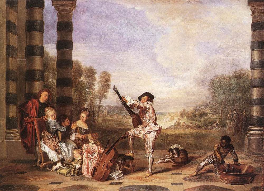 Les Charmes de la Vie The Music Party | Jean Antoine Watteau | Oil Painting