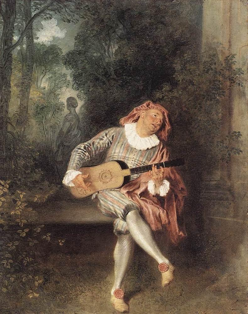 Mezzetin | Jean Antoine Watteau | Oil Painting