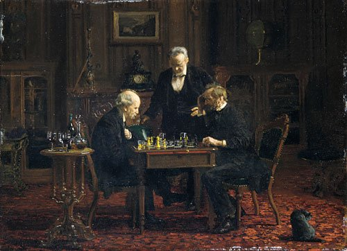 The Chess Players 1876 | Thomas Eakins | Oil Painting