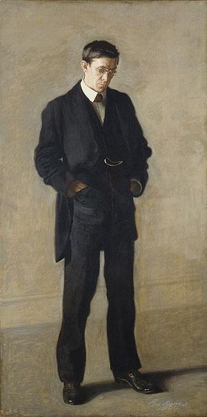 The Thinker Portrait of Louis N Kenton 1900 | Thomas Eakins | Oil Painting