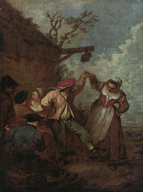 Peasant Dance | Jean Antoine Watteau | Oil Painting
