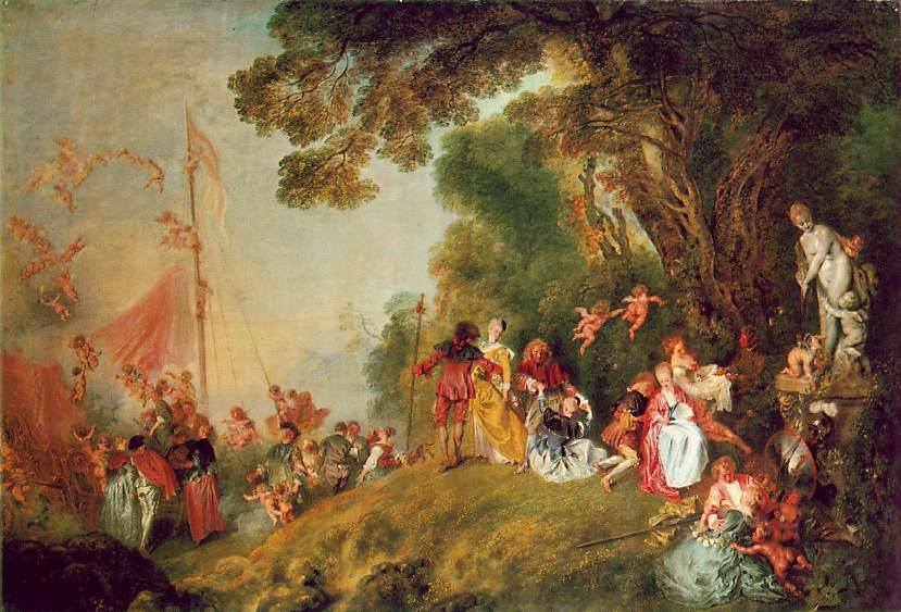 Pilgrimage to Cythera | Jean Antoine Watteau | Oil Painting