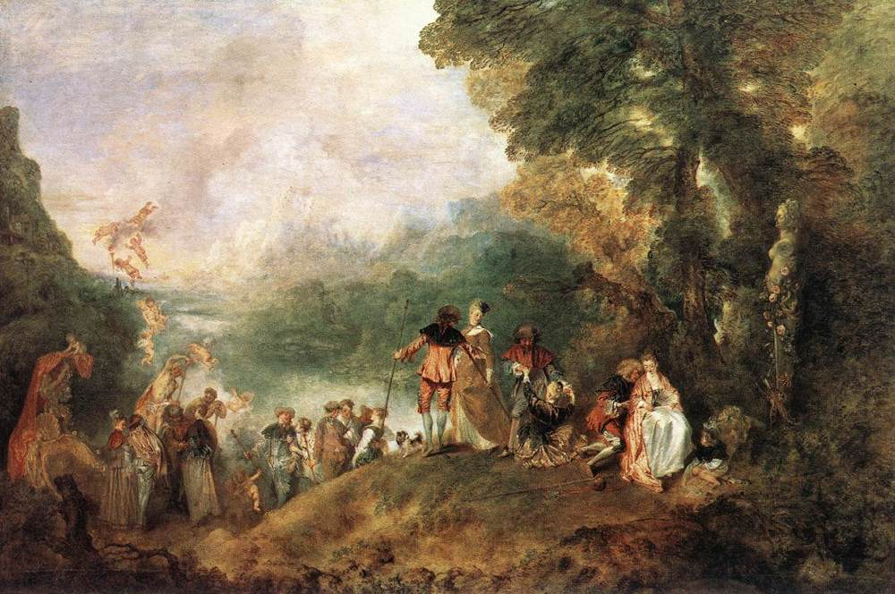 The Embarkation for Cythera | Jean Antoine Watteau | Oil Painting
