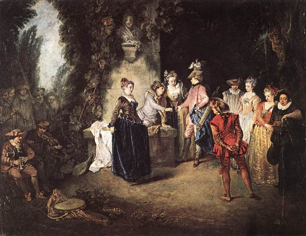 The French Comedy | Jean Antoine Watteau | Oil Painting