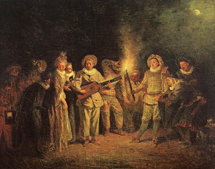 The Italian Comedy | Jean Antoine Watteau | Oil Painting
