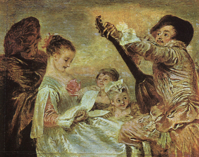 The Music Lesson | Jean Antoine Watteau | Oil Painting
