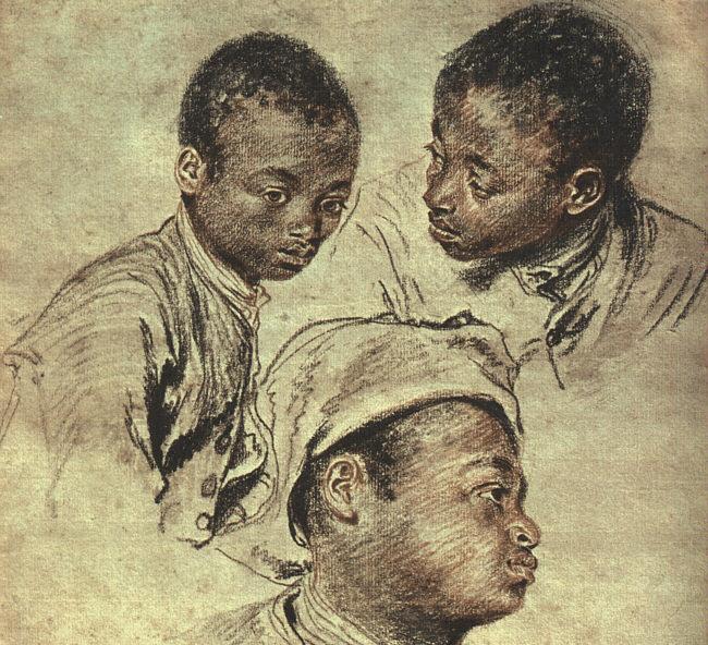 Three Studies of a Boy | Jean Antoine Watteau | Oil Painting