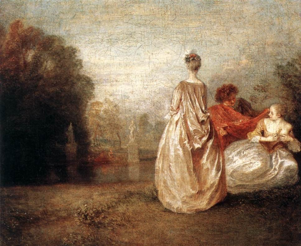 Two Cousins | Jean Antoine Watteau | Oil Painting